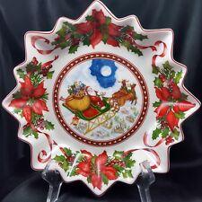 "Villeroy and Boch Toys Fantasy Large Bowl Santas Flight 10"" NEW 3649 Serving"