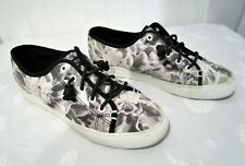 Sperry Suncoast Floral, Black & White # Sts99115, Hard To Find! Sold Out, 7.5