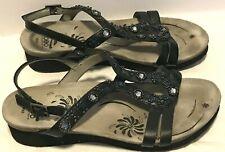 Abeo Cheri BIO Adjustable Strap Slide Sandals Women's 8 N Neutral - Black
