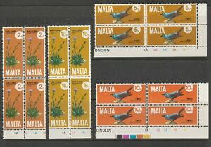 MALTA Corner Blks of 4 1971 SG456-59 MNH