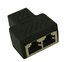 RJ45 CAT6/5E Ethernet 1 In  2 Out Adapter/Splitter