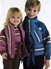 Crochet Pattern ~ Child's Sweater Jacket Kids Boy & Girl ~ Instructions