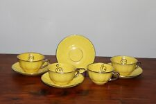 Antique 4 Piece Tea Cup and Saucer Egersund Fayancefabrik Norsk Norway 1920-1952