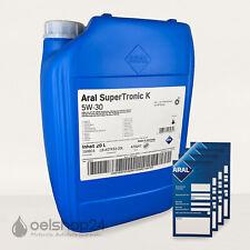 ARAL Super Tronic K 5W-30 20 Liter Longlife 3 III VW 507.00 MB 229.52 BMW LL04