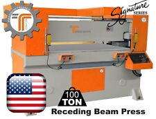 New Cjrtec 100 Ton Receding Plane Press Automatic Die Cutting Machine
