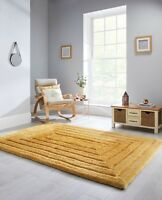 SALE Verge Ridge Yellow Ochre Hand Carved  Thick 3D Shaggy Rug in various sizes
