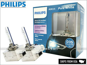 D3S PHILIPS 6000K ULTINON HID XENON Headlight Bulbs Made in GERMANY 42403WXX2