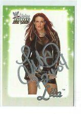 Lita Signed 2003 Fleer WWE Divine Divas Card #14