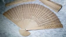 12 Wedding Wooden Fan Quinceanera Hand Fan Abanico de Madera Boda