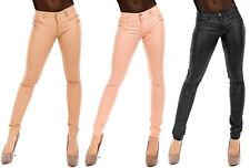 Damen Hose Leder-Imitat Lederlook Leder-Optik Skinny Leggings Wetlook - Pants