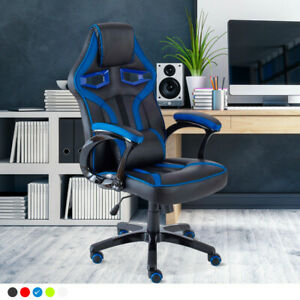 Neo Executive Faux Leather Sport Racing Car Gaming Office Chair Lumbar Support