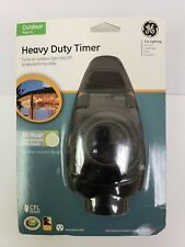 GE Outdoor Heavy Duty Electric Light Timer Plug In Programmable 15102 NEW