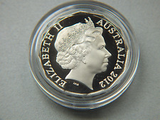 2012 AUSTRALIAN PROOF 50 CENT COIN IN A CAPSULE.