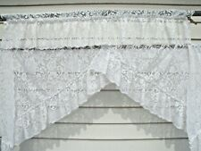 Shabby Chic Lace Swag & Valance --White