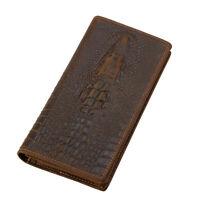 RFID Retro Men's Leather Long Bifold Wallet Cash ID Card Checkbook Holder Purse