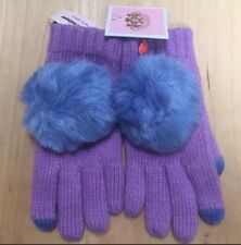Juicy Couture Girls Purple Pom Pom Texting Gloves One Size Fits Most $48.00