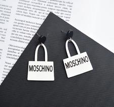 New Style Moschino Earring Fashion Ladies Acrylic Handbag type Earring Love Gift