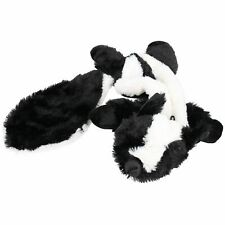 Plush Super Soft Unstuffed Skunk Dog Toy With Squeak 8x10x58cm