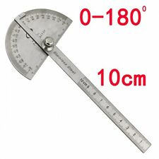 Stainless Steel Round Head Rotary Protractor + Laser Engraving Angle Ruler 10cm