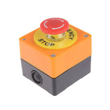 Red Sign Mushroom Emergency Stop Push Button Switch Station _S