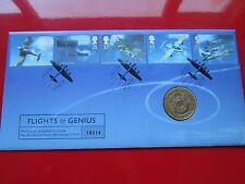 1997 voli di GENIUS bunc £ 2 due Pound Coin COVER FAR rintracciare