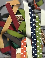 25 yds 7/8 inch grosgrain ribbon 1 yards of 25 colors, cheetah Lot 5