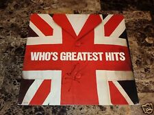 The Who Signed Vinyl LP Record Greatest Hits Pete Townshend Classic Rock Legend