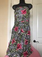 Torrid  Strapless green Dress  Size 24