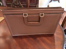 Vintage Leather Briefcase Attache Case Document Korea brown