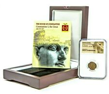 Roman Constantine I, the Great Coin NGC Certified XF In Wood Box & Story Card