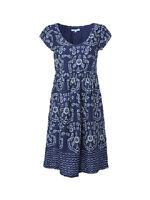 White Stuff blue/white floral viscose tea dress~8 10 12 14 ~New