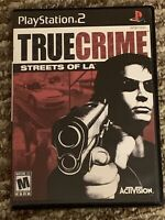 True Crime Streets Of L.A. Sony Playstation 2 PS2 Game Excellent CIB COMPLETE
