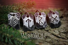 Hand-Forged Viking Rune Pendants - Hammered Steel Talisman - Norse/Symbols/Power