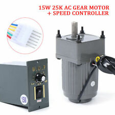 110V 15W 25K AC gear motor electric + variable speed Reduction controller Adjust