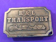 Vintage Belt Buckle Promo R & L Transport Company Hit Line