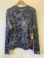 New True Religion Striped California Long Sleeve Top T-Shirt Size L 2A