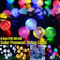 30 LED 6.5M Outdoor Solar Powered String Lights Patio Party Garden Wedding Decor
