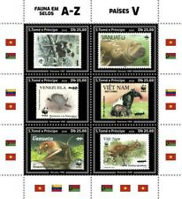 More details for sao tome & principe stamps-on-stamps 2020 mnh fauna bats turtles monkeys 6v m/s
