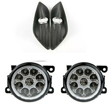 For FORD FOCUS MK2 2009-2011 LED white FOG LIGHTS LIGHT LAMPS cover GRILLES