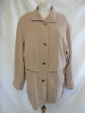 Ladies Coat - Klass, size 14, biscuit colour, soft touch, not thick, lined 2545