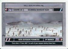 Star Wars CCG Hoth White Border Hoth : Defensive Perimeter [Dark Side]