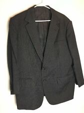 Gieves Hawkes Mens Suit Jacket 46R Black Pinstripe Measurements in Description