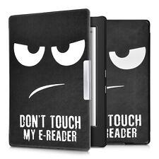 kwmobile Flip Tasche für Kobo Aura H2O Don't touch my E-Reader Kunstleder Hülle