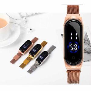 Fashion Sport Digital Watch Men Women LED Wrist Watch Magnetic Band Acces