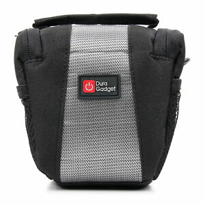 Slim Black/Silver Travel Carry Case for Vivitar S126 Compact Digital Camera