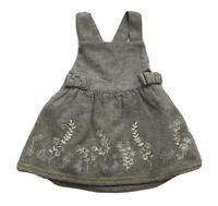 Monsoon Baby Girl's Gray Tweed Bow Dress Size 3-6 Months Orig.$79