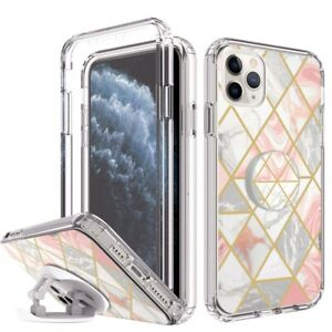 Case For iPhone 12 11 Pro XS Max XR SE 6S 7 8 Plus Kickstand Ring Screen Cover