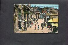 Postcard - Dated 1918 View of a Street in Valletta, Malta