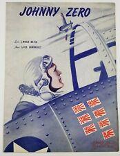 Johnny Zero 1943 World War Two II Era Vintage Sheet Music Aviation Air Force