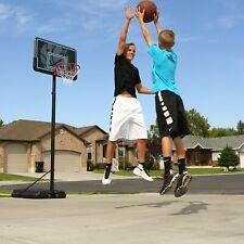 "Adjustable Basketball Hoop Portable 44"" Pro Court Outdoor Sport Black/Green"